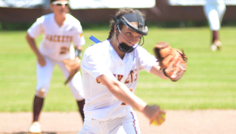 Daily Leader / Marty Albright / Enterprise Carlee Nations collects the win Saturday against Clarkdale.