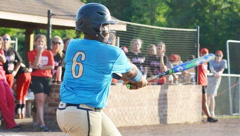 Daily Leader / Stacy Leake / Christian Black's homerun in the second inning ignited the Bogue Chitto Lady Cats offensive surge against Sebastopol.