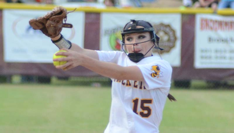 Daily Leader / Marty Albright / Enterprise Haley Nations collects the win on the rubber against Taylorsville.