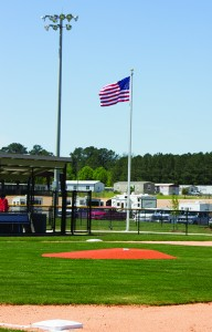 More than 300 youth played at the new baseball complex on Saturday during its opening day.