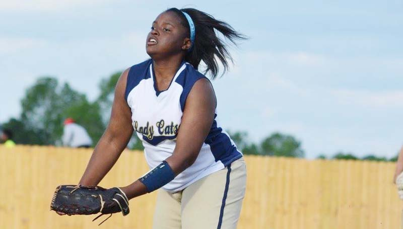 Daily Leader / Stacy Leake / Bogue Chitto's Christian Black dominated the pitching circle Tuesday night against Nanih Waiya.