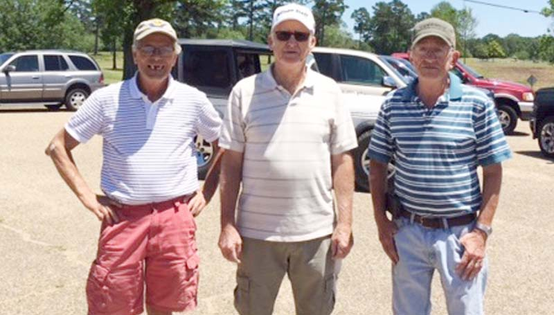 Daily Leader / Photo submitted / In Thursday's senior scramble at the Brookhaven Country Club, the team of (from left) Kenny Thornhill, Jerry Harper,  Dick Arnold, and (not pictured) Randall Harper won with a score of 13 under par 57.