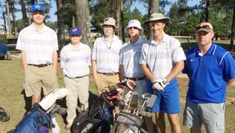 Daily Leader / Photo submitted / The Wesson Cobras' golf teams placed fifth with a final score of 747 in the state tournament in Oxford. Members of the team are (from left) Kenner Bizot, Chandler Byrd, Kyle Holloway, Bryce Langley, Logan Channell and coach John Douglas.
