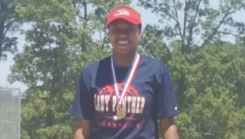Daily Leader / Photo submitted / Ole Brook's senior Mya Washington captures gold in the Discuss event