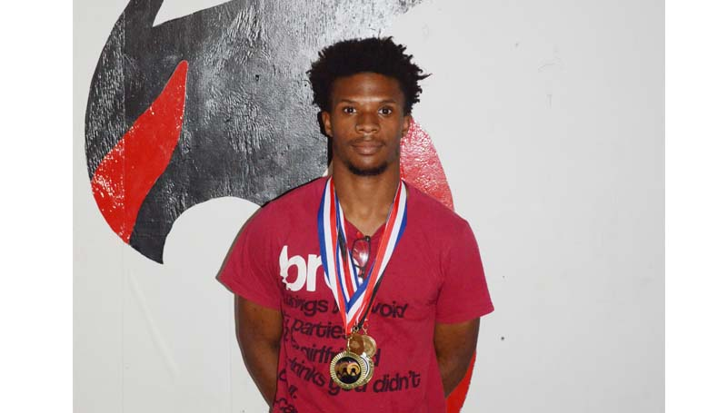 Daily Leader / Marty Albrigh / Loyd Star senior Terril Lloyd wins back-to-back gold in powerlift in the 123-weight class.