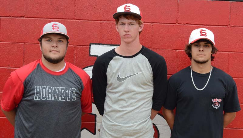 Daily Leader / Marty Albright / Loyd Star's baseball seniors Lane Rogers, Levi Redd, Lamar Lang and the rest of the Hornets are ready for action as they take on East Union today at Trustmark Park in Pearl.
