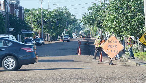 File photo/Engineer Ryan Holmes informed the Brookhaven Board of Aldermen at Tuesday's board meeting that the city's paving project was 68 percent complete as of May 31.