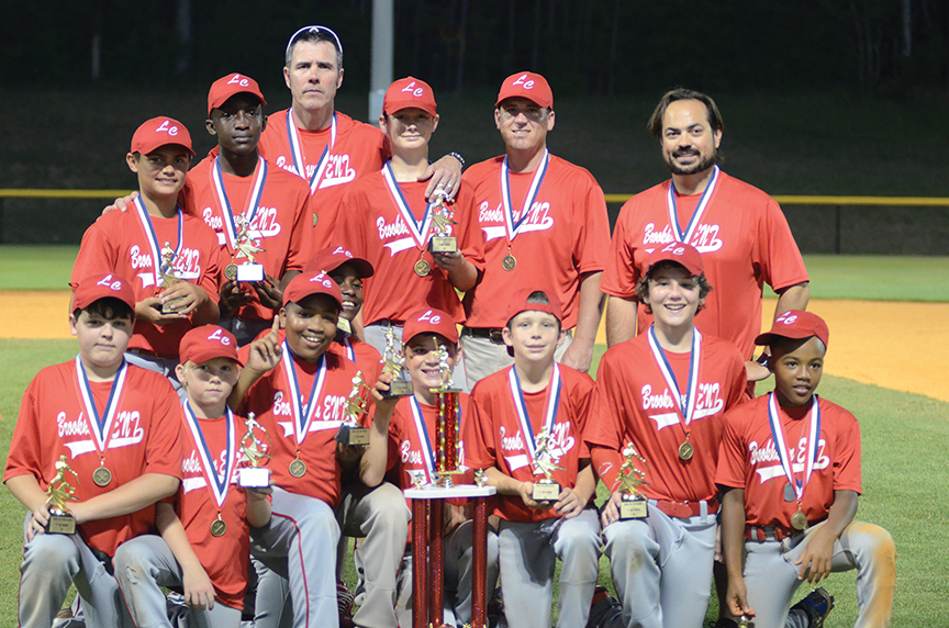 Brookhaven ENT won first place in the 11and 12 year old division of the Brookhaven Dixie Youth Baseball Tournament Friday night after a 6-1 victory over Connley Moak Appraisal. Members of the team are:  Jackson Carter, Ryan Case II, Kenneth Dixon, Trevor Fortenberry, Tyler Fortenberry, Steven Jensen, Jakari Lyons, Jacob Meilstrup, Bryson Porter, Benjamin Ready and Darius Robinson. Coaches are Jess Carter, Ryan Case II and Hugh Fortenberry.