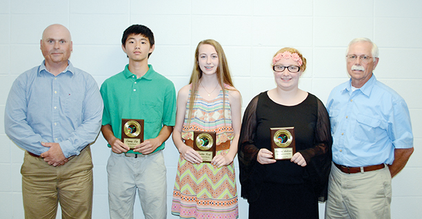 The Brookhaven Academy Archery team was honored during a spring athletic banquet. Receiving awards were (from left) coach Steve Smith; Timmy Lin, Top Male Shooter; Kaitlyn Beal, Top Female Shooter; Brianna Anderson, Most Improved Shooter and Coach Kelly MacDonald.