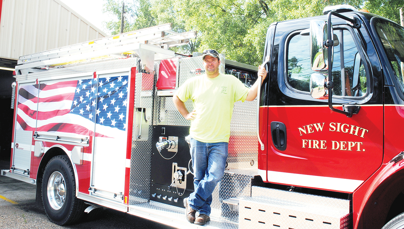 Photo by Aaron Paden/Cory Smith has served as chief for the New Sight Volunteer Fire Department for three years.