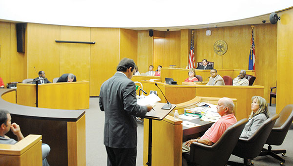 Photo by Aaron Paden/Charles Davis' trial continues today at the Lincoln County Courthouse. Davis is accused of touching and handling for lustful purposes a 10-year-old girl when he was a Lincoln County school bus driver. A gallery of pictures from the trial is available at dailyleader.com.