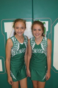 Photo Submitted/  Maggie Newman and Ainsley Griffin, members of the West Lincoln Junior High Cheer Team, are among the few cheerleaders earning a position on the National Cheerleaders Association (NCA) 2016-2017 All-American Cheerleading Team. Newman is the daughter of Jamie and Jennifer Newman of Brookhaven.  Griffin is the daughter of Clint and Jenni Griffin of Brookhaven.