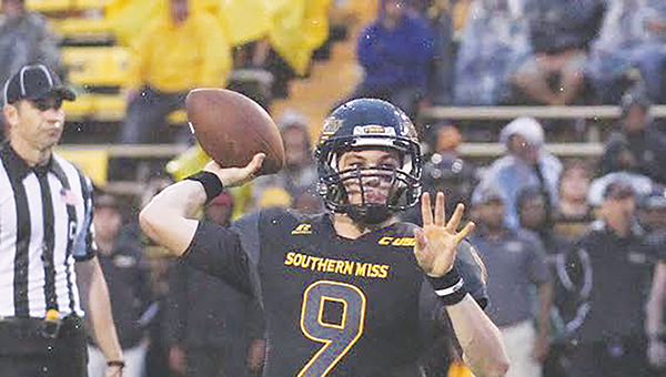 Photo courtesy of USM Media Relations/   Nick Mullens was named Offensive Player of the year by Confernce USA coaches.