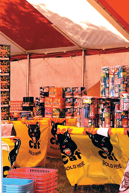 Photo by Aaron Paden/This fireworks stand sits just outside of town on Highway 84. There are several in the area that sell fireworks just outside of the city limits.