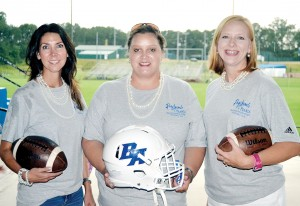 Photo by Donna Campbell/Leah Smith (left), Bethany Lewis and Kappi Rushing helped organize the school's first ladies-only football clinic, which will be Monday at 7:30 p.m. in the Brookhaven Academy's cafeteria. Brookhaven High School will also host a similar clinic Saturday at 5:30 p.m. at King's Daughters Medical Center Performance Center.