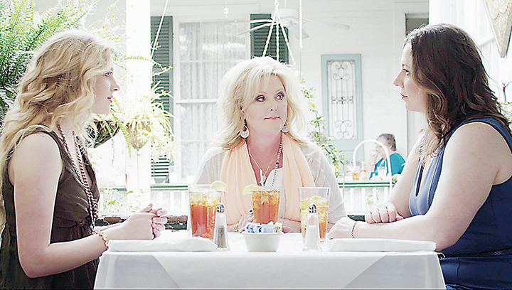 """Photo submitted/Actresses Elise McMurry (left), Marlene Cupit and Lynn Forney star as Jenny Rose, Patsy Lynn and Ann Margaret in """"Porches and Private Eyes."""" The three women get involved in a murder mystery that will play out when the film is shown at the Haven Theater. Tickets are sold out already for the premier, but a limited number are still available for the Sept. 10 show."""