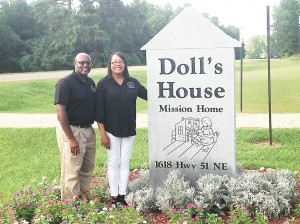 Photo submitted/Donations made through Aug. 26 for the 12th annual Gentiva Hospice Food Drive this year will benefit Doll's House in Brookhaven. Executive directors of the mission home for women are Johnnie Turner (left) and his wife,  Stephanie Turner.