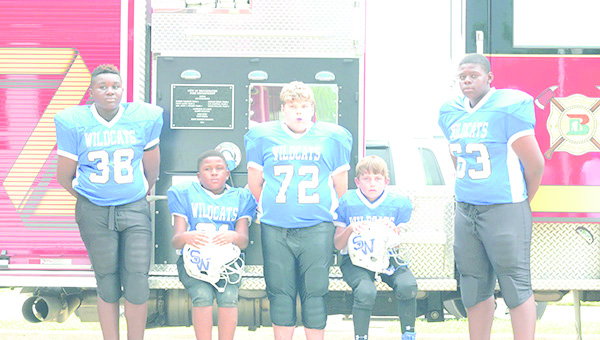 Photo by Anthony McDougle/  Kobe Jacobs (left), Durrell Washington Jr., Colt Piper, Randy Jones and Lezeric Brothern are players expected to make a big impact on their respective teams for the Southern Wildcats this season.