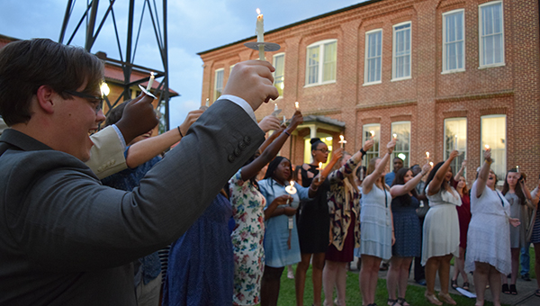 Photos by Julia Miller / MSA students shared the light of knowledge recently to recognize the beginning of a new school year