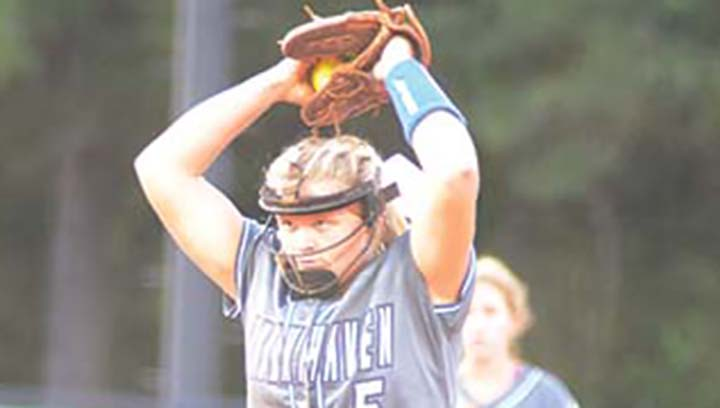 Photo by Anthony McDougle/Brookhaven Academy pitcher Madi Smith prepares to send a pitch to home plate during the Cougars' home game Tuesday.