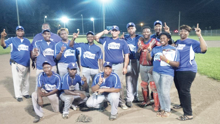 Photo submitted/ The Tamers won the Dr.  A.L. Lott  Pony League division championship recently. Team members are, bottom row, from left: Christian Winding, Lantravius Franklin and Dailen Allen; Standing; Elder James Allen, Zailen Allen, coach Brooks Winding, Dexter Lee, Anthony Maxwell, Kyler Smith, Krimel Chandler,  Kedarius Osby, Tatiana Seaberry, coach Obed Winding and coach Rowaner Allen. Not pictured are Ledarius Swan, LaDerronte Cain and Percy Robinson.
