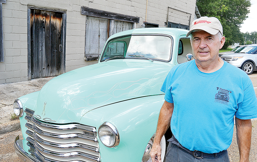 Photo by Donna Campbell/Tommy Smith tools around town in his '48 Chevy pickup that's as old as he is. He'll have the green beauty on display Oct. 1 at the Ole Brook Festival Car Show, but there's plenty of room for more. Reservations for a space  are $10. For information, call 601-833-1411.