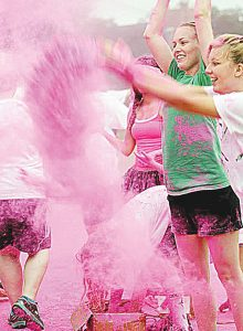 Photo submitted/Pink is the only color used in the annual color run hosted by Lincoln County's MSGirls4ACure. The eighth annual 5K Breast Cancer Color Walk/Run will kick off Oct. 1 on the second day of the Ole Brook Festival. Registration for the 5K will begin at 7 a.m. The entry fee is $25 for an adult and $12 for children 10 years old and under. The actual run will start at 8:30 a.m. at the main stage.