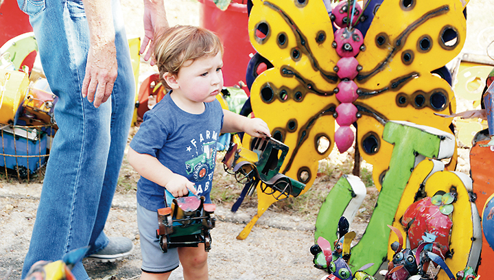 Photos by Alex Jacks/The 45th annual Wesson Flea Market, held in downtown Wesson Saturday, proved to be a success for all involved. Church groups, small businesses, clubs and organizations from across Mississippi staked a spot on Hwy. 51 and the town's side streets to provide visitors with an array of homemade crafts and foods. The Wesson Volunteer Fire Department will benefit from the event, as the flea market is their biggest fundraiser every year. More photos of the flea market can be see at www.dailyleader.com.