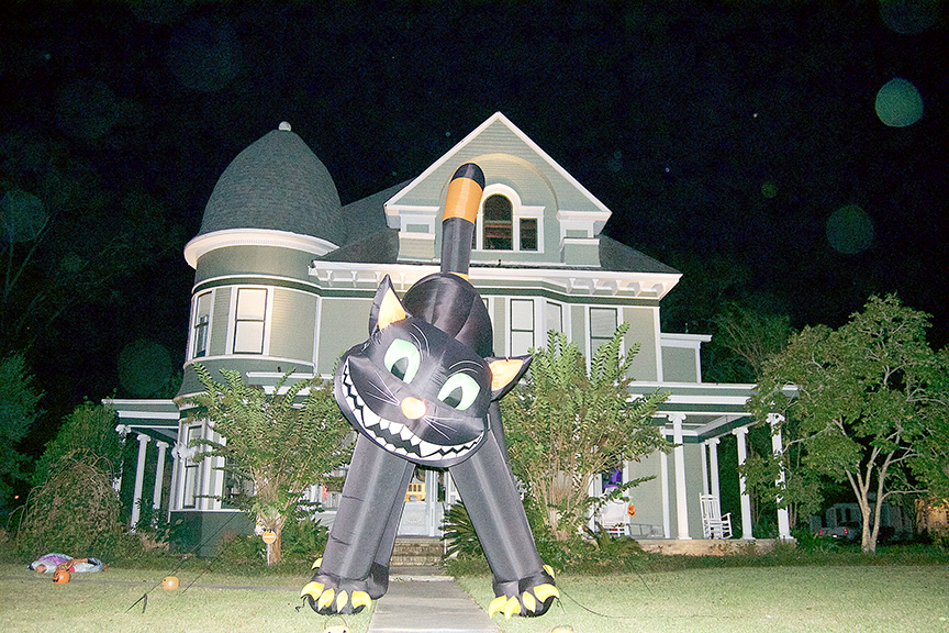 Photo by Donna Campbell/Trick-or-treaters will be making the rounds through the neighborhoods Monday, stopping at homes like this on on Natchez Avenue to fill their bags with candy.