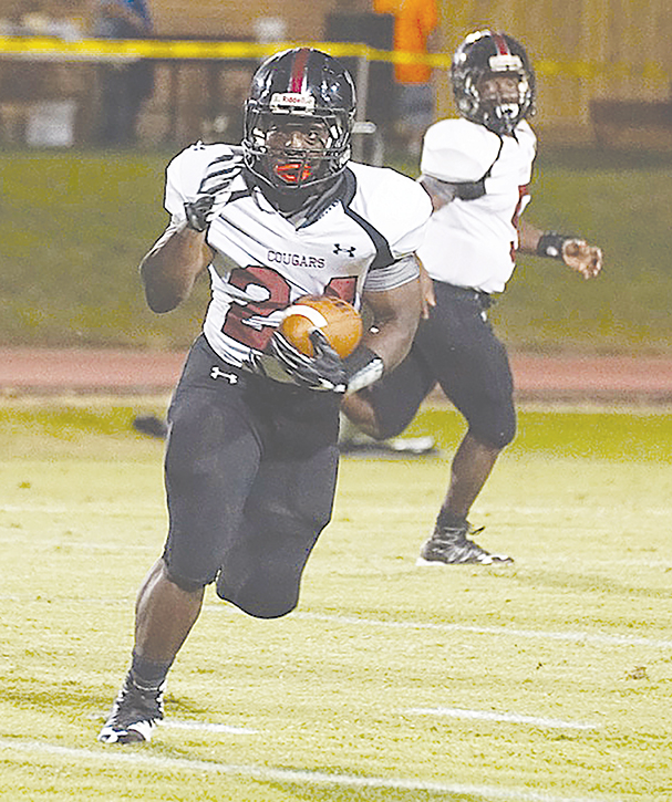 Photo  submitted /Lawrence County's senior All-State running back Quitten Brown was one of five running backs selected  to Mississippi's South team for the Bernard Blackwell North/South All-Star Game.  Ole Brook's Cody Barrett was also named to the team as a manager.  The All-Star Football Classic will be played at 11:30 a.m. , Dec. 17 at Gulfport High School's Milner Stadium.