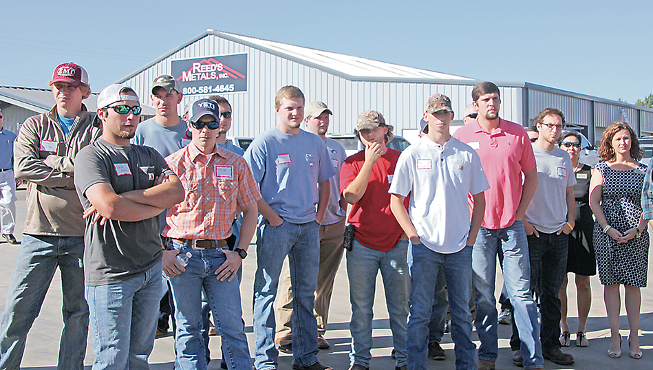 Photos by Alex Jacks/Copiah-Lincoln Community College automation and technology students toured the Reed's Metals facility Thursday as part of National Manufacturing Day.