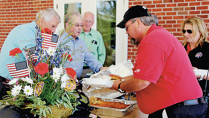 Photo by Alex Jacks/Riverwood Family Funeral Service employees served local first responders lunch, cooked by Farm Bureau, Tuesday to show their appreciation for the firefighters, deputies, officers and EMTs in Brookhaven and Lincoln County.