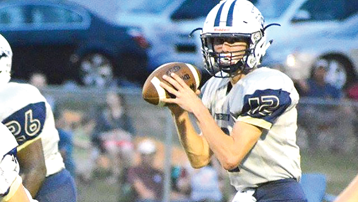 Photo submitted/Bogue Chitto quarterback Trey Nettles gets ready to deliver a pass during the Bobcats' game against Mount Olive Friday.