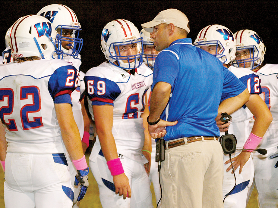Photo by Tracy Fischer/Wesson coach Jeremy Loy  and the Cobras will finish the season with more wins than last year.