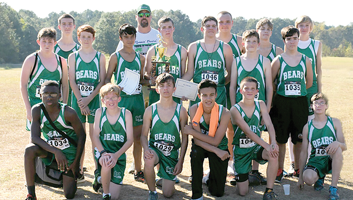 Photo submitted/ West Lincoln finished first in the 5K event at the MHSAA 2A cross country championships Tuesday.