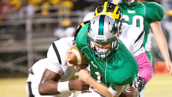 File Photo/ West Lincoln quarterback Nathanael Addison (pictured) threw two touchdown passes in the Bears 56-14 district loss to Prentiss at A.E. Field Friday night.