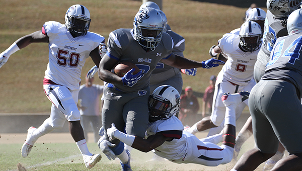 Photo by Lucas Calvert \Co-Lin's Ladarius Galloway finished Saturday's game with over 150 yards rushing and two scores.