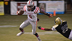 Photo by Chris King\Loyd Star's James Beard (5) evades a Bassfield player in an attempt to gain some yardage for the Hornets.