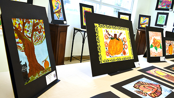 Photos by Julia Miller / Works of art from Boswell Regional Center's Expressive Arts program will be on display at the Lincoln County Library throughout the month of November.