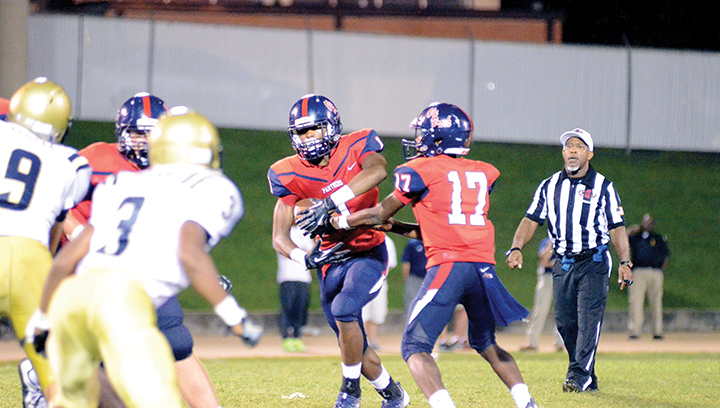 File photo/Brookhaven's Damarrell Leggett (No. 1) had a big game against Natchez last week, scoring three touchdowns in the win. He will likely need a similar performance if the Panthers hope to beat Hattiesburg.