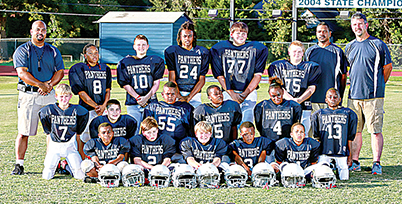 "Photo by Johnny Smith Photography /Lipsey Navy was recently named the Peewee League Superbowl winners. The champion team includes front row, Pierce Bridgeforth (left), Robert Adcock, Noah Barksdale, Kenneth Dixon and Ian Gatlin; middle row, Garrett Carwyle, Sharpe Walker, Edward Quarles, Adarrius Tillman, Angel ""Cookie"" Wilkinson and Deon Jones, and back row, Coach Damian Gatlin, Sammy May, Jacob Rushing, Edward Wells, Landon Smith, Josh Townsend and assistant coaches Dominic Gatlin and Scott Smith."