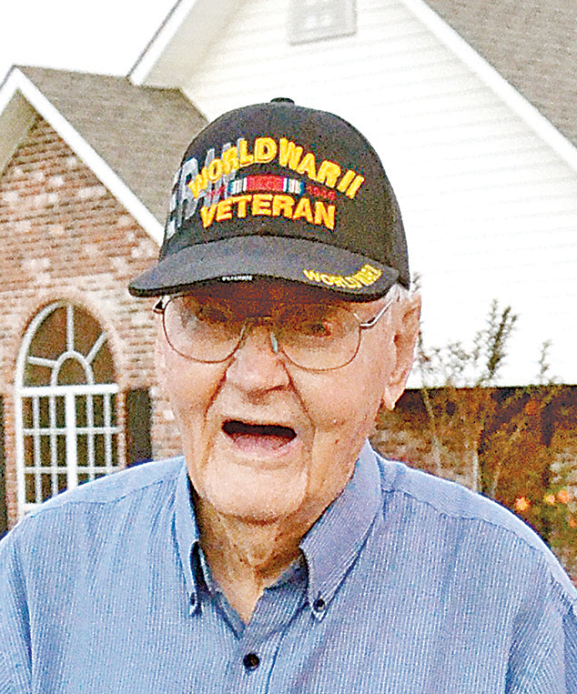 File photo/World War II veteran Cecil Rhodes, of Brookhaven, remembers hearing about the Pearl Harbor attack on the radio 75 years ago today. A year later, Rhodes was drafted into the war.