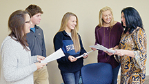 Photo by Orionna Brumfield/Loree Coleman, far right, explains the future goals to some of her seniors in the Lincoln County Teenage Republicans chapter.  With Coleman are Macey Lea (left), Jaden Clark, Julianna Mills and Missy Clanton.