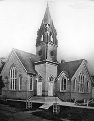 Photo courtesy of the Lincoln-Lawrence-Franklin Public Library / When the congregation outgrew the first building, a second was built in 1903 for $12,000. J.D. Tedford was the contractor and builder.