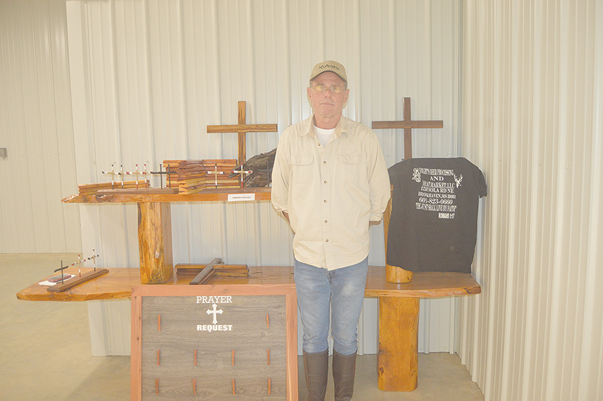 Photo by Orionna Brumfield/Mike Knight recently opened a deer processing business in Brookhaven and participates in the Mississippi Wildlife Federation's Hunter's Harvest program to donate venison to organizations with food pantries. He also shares his faith by making crosses to sell.