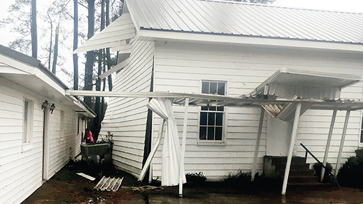 After fierce winds swept through Copiah and Lincoln counties at the beginning of the year, the 130-year-old structure that housed Sweetwater United Methodist Church suffered foundational damage, which caused it to be declared a total loss.